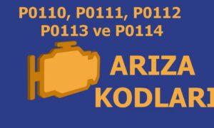 P0110, P0111, P0112, P0113 ve P0114 Emme Havası Sıcaklık Sensörü (IAT) Arıza Kodu