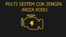 P0172 Sistem Çok Zengin (Sıra 1) Arıza Kodu