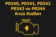 P0340, P0341, P0342, P0343 ve P0344 Kam Mili (Eksantrik) Sensör Devresi Arıza Kodu